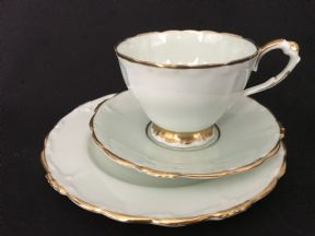 Elegant Paragon tea trio- pale mint green